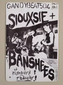 Siouxsie and the Banshees Metal Tin Hanging Wall Sign NEW