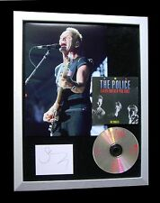 POLICE+STING+SIGNED+FRAMED+BREATH+ROXANNE+BOTTLE=100% AUTHENTIC+FAST GLOBAL SHIP