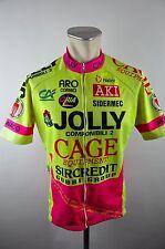 Nalini Jolly Cage vintage cycling jersey maglia Rad Trikot Gr. L 56cm 07C