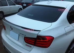 Painted BMW 12~18 F30 3-series Sedan A type roof + performance trunk spoiler◎