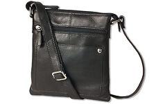 Platino Damen Handtasche aus weichem Nappaleder / Rinderleder in Schwarz