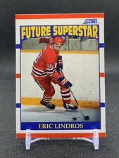 """New listing 1990 Score ERIC LINDROS #440 """"Future Superstar"""" Hockey Card - NMM"""