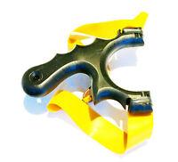 Powerful Polymer Hunting Catapult  Theraband Gold BloodShot TTF / OTT Slingshot