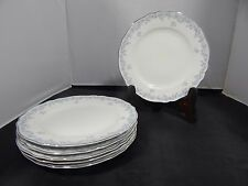 """Lot of 6 Franconia Krautheim Delphine Salad Plates 7.75""""; Made in Germany"""
