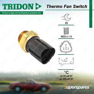 Tridon Thermo Fan Switch for Volkswagen Touran Bora 1J Polo 6R 9N GTi