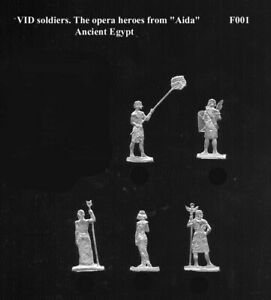 """VID soldiers F-001 Ancient Egypt - Heroes from """"Aida"""" opera Flat tin soldiers"""