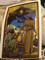 Art Nouveau Poster Print Color By Maxfield Parrish The Lamp Seller of Baghdad