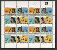 MARSHALL ISLANDS 1990 SHEET of 16 MNH SCOTT CAT# 366-369 x4 CHILDRERNS GAMES $14