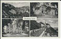 Ansichtskarte Dornburg - Rokoko-Schloß, Goethe-Schloß, Altes Schloß - s/w