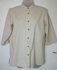 Orvis UK6 EU34 cream 100% cotton shirt with three-quarter sleeves