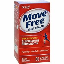 2 Pack - Schiff Move Free Joint Health Glucosamine Chondroitin 80 Tablets Each