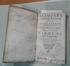 1746 - Nicola Antonio De Martino - GEOMETRIA PIANA