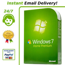 Windows 7 Home Premium Key 32/64 Bit Genuine *Instant Delivery*