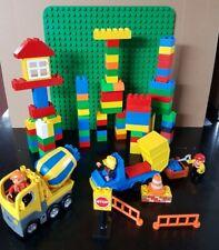 -Gereinigt- Lego Duplo Baustelle Konvolut mit Betonmischer Baupatte Steine