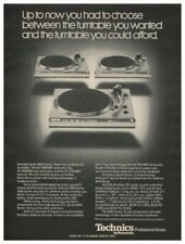 TechnicsSL-1500,1400,1300 MKII Turntables Original Ad