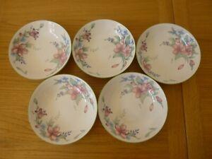 5 Royal Doulton Expressions Carmel Bowls