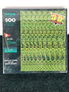 GO FOR THE GREEN! 1994 SPRING BOK 3D SENSATIONS HALLMARK 500PC PUZZLE NEW SEALED