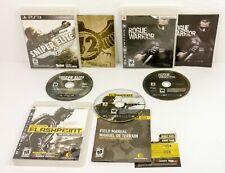 PS3 3 Games Sniper Elite V2 Rogue Warrior Op Flashpoint Dragon Rising VGUC CIB