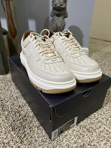Nike Air Force 1 Luxe 'Pecan Pearl White Pale Ivory' Men Size 10.5 [DB4109-200]