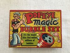 Vtg 1929 Toy Popeye Magic Bubble Set Original Box Pipe Set Embossed Tray No Soap