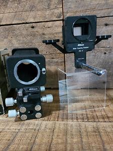 Near Mint Nikon F Bellows Focusing Attach PB-4 + PS-4 Slide Copying Adapter