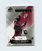 15/16 SP GAME-USED SPGU ROOKIE RC #233 LAURENT DAUPHIN 15/76 COYOTES