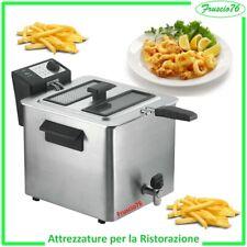FRIGGITRICE Elettrica Professionale RGV 8 LITRI con Rubinetto di Scarico 3000 W