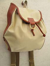 -AUTHENTIQUE  sac à dos LANCEL   toile et cuir   TBEG vintage bag