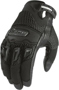 Icon Twenty-Niner 29er CE Street Motorcycle Riding Gloves Black Mens All Sizes