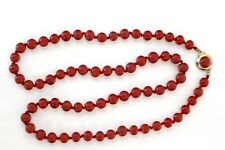 Halskette Sardegna Koralle Edelkoralle dunkelrot Goldverschluß coral necklace