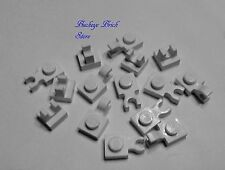 Lego WHITE PLATES with Clip on Top, Horizontal & Vertical - LOT/12