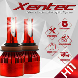Xentec  H11 H9 H8 LED headlight Kit 60W 7600LM 6000K Low Beam Bulbs CREE Pair