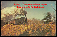 LMH Postcard 1955  BOSTON & MAINE   2-6-0 Mogul BM B&M 1495 Passenger Train