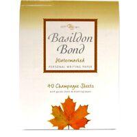 Quality Writing Paper - Basildon Bond - Champagne, White or Blue - 40 Sheets