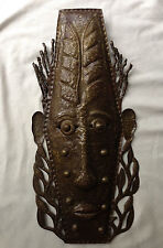 WALL ART MASK sculpture from recycled Metal signed by artist