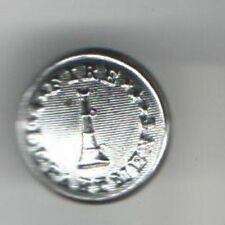 old FIRE Dept. HORN Silverplated Button 5/8 inch