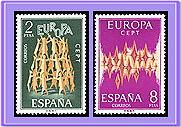 ESPAÑA 1972 2090/1 Europa 2v.