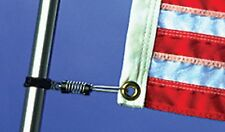 E/Z On Flag Clips Spring Loaded Stainless Steel Boat Marine Spring Loaded