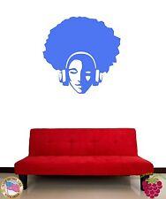 Wall Stickers Vinyl Decal Hippie Guy In Headphones In Blue z1153