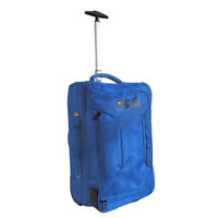 JCB 34L CABIN TRAVEL CASE WHEELED HOLDALL HAND LUGGAGE TROLLEY SUITCASE - BLUE