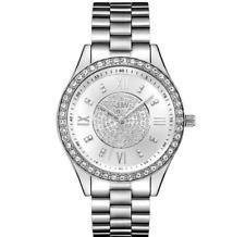 JBW $795 WOMEN'S MONDRIAN DIAMONDS/CRYSTALS FANCY SILVER STNLSS STL WATCH J6303A