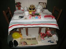American Girl Doll Molly's Birthday Party; Wood Table/ Chairs Treats, China; Gam
