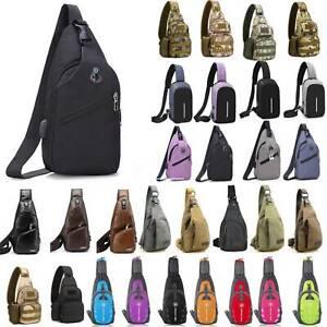 Sling Bag Unisex Chest Pack Travel Sports Gym Backpack Shoulder Crossbody Bags
