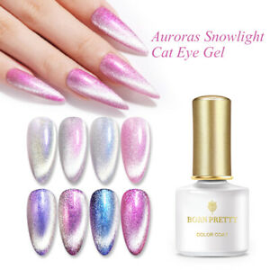 BORN PRETTY Magnetic Gel Polish Auroras Snowlight Shining Cat Eye Soak Off Gel