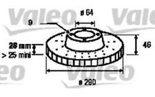 1x VALEO Disco de freno delantero 187155