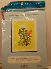 Creative Stitchery Kit Queen Anne's Lace Crewel Embroidery New Kit 6x8 #593A