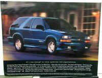 2001 Chevrolet Blazer Extreme Dealer Sales Data Card Sheet Features Options
