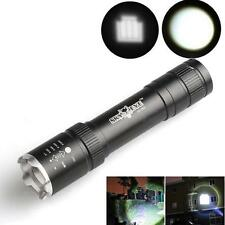 2500LM XML T6 LED Zoomable CREE 18650 Flashlight Powerful Torch Lamp With Strap