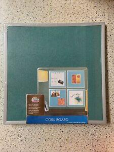 """The Board Dudes 11.8"""" X 11.8"""" Square Cork Board - NEW"""