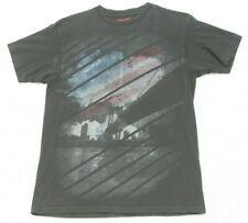 Alfani American Flag Bridge Graphic T-Shirt Mans Tee Size Medium Short Sleeve